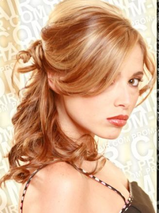 Prom half up half down hairstyles for short pictures 2