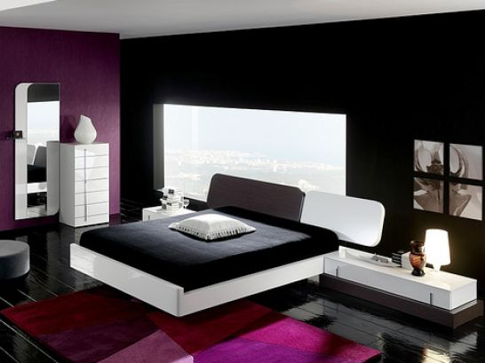Red black and white bedroom designs - Black white and red bedroom ...