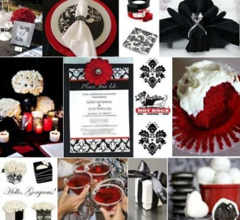 Red Black And White Wedding Decor Pictures 1