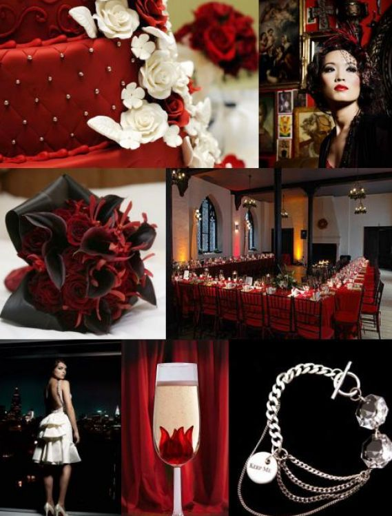 Red White Wedding Theme Pictures : Red black and white wedding ideas pictures
