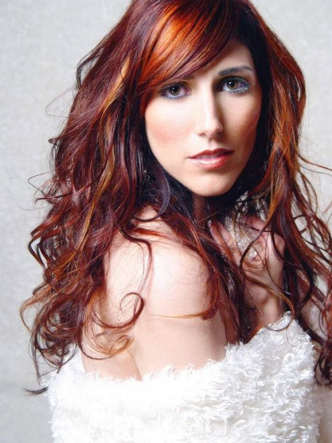 Red black hair highlights pictures 4
