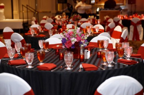 Red White And Black Bridal Shower Decorations
