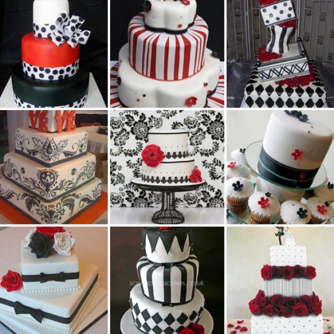 Red black white wedding ideas pictures 4