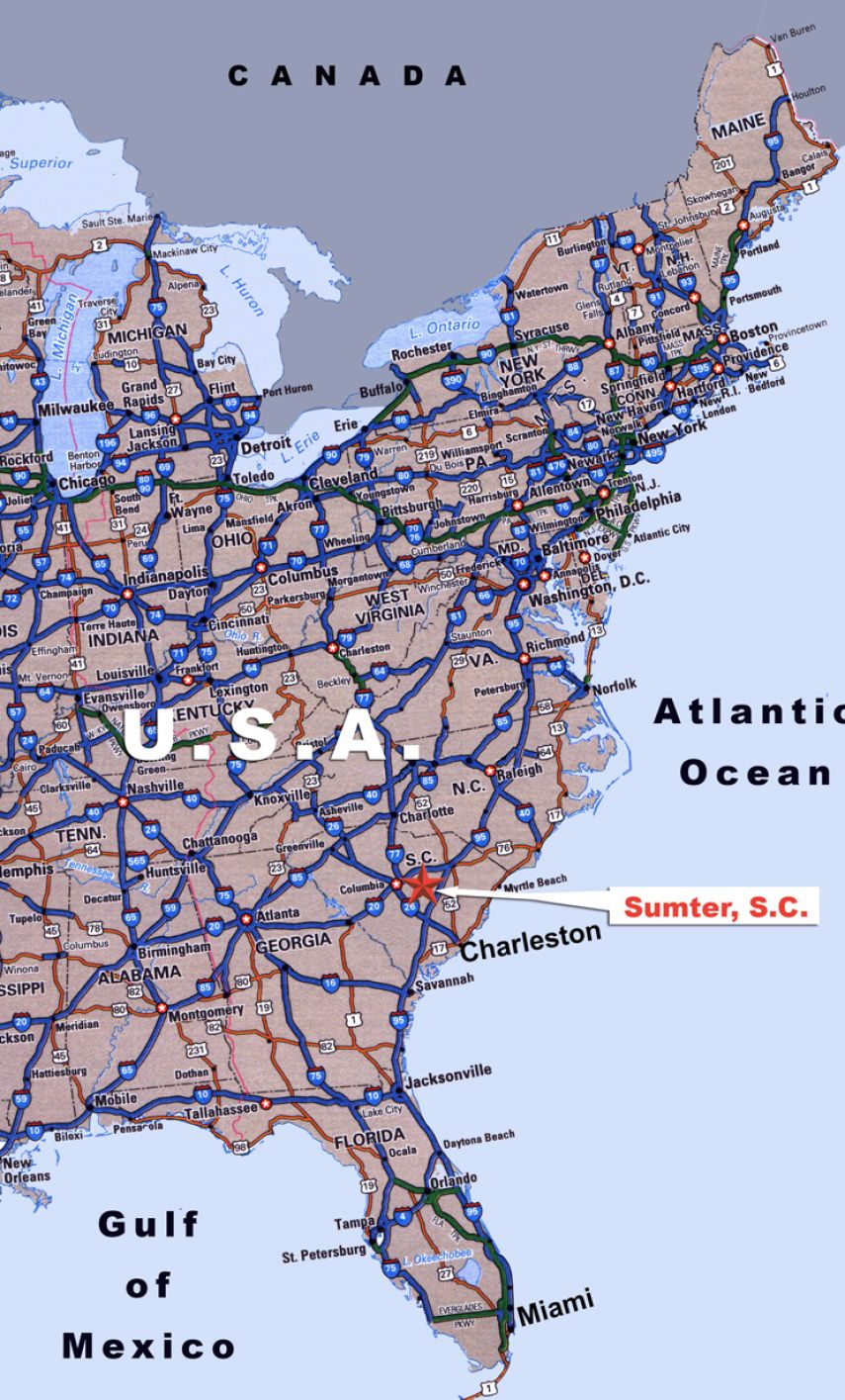 Road map of the east coast pictures 1