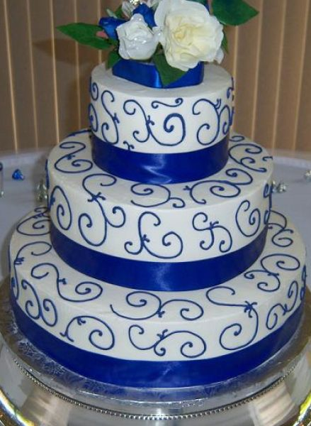 Blue Wedding Cake Ideas : Pics photos walmart blue wedding cakes