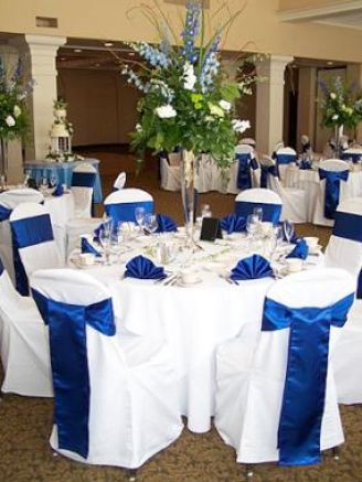 Royal blue wedding theme pictures 1