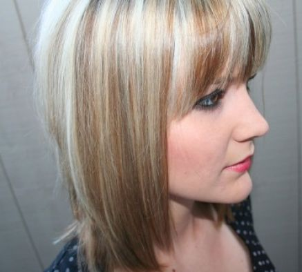 Short blonde hair with brown lowlights pictures 2
