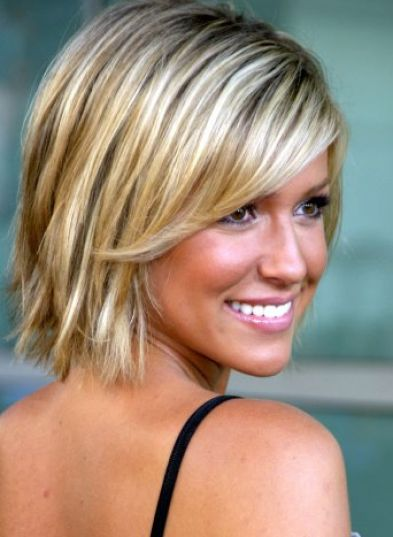 Short blonde hair with brown pictures 2