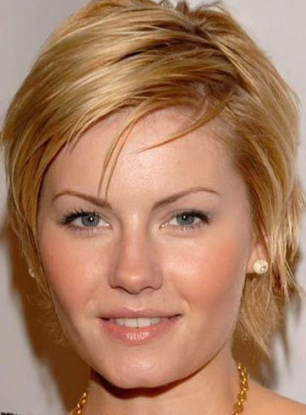Women with Short Hair for Round Faces