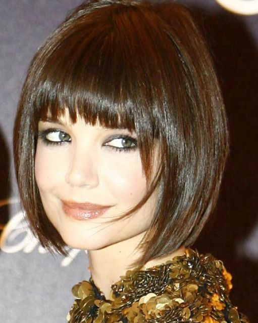 Short layered bob hairstyles with bangs pictures 4