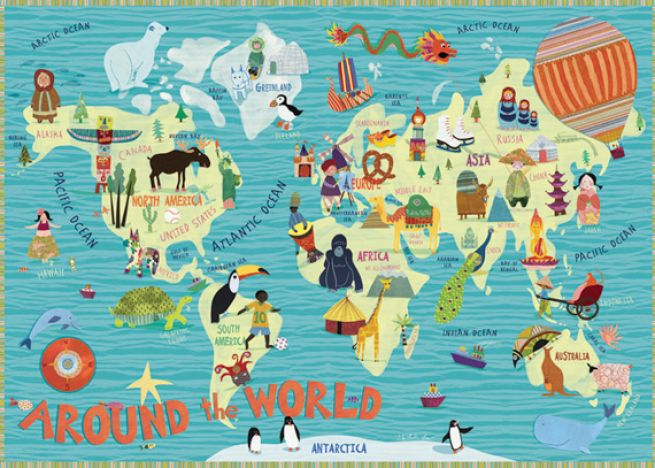 world map outline for kids. Childrens world map by rand