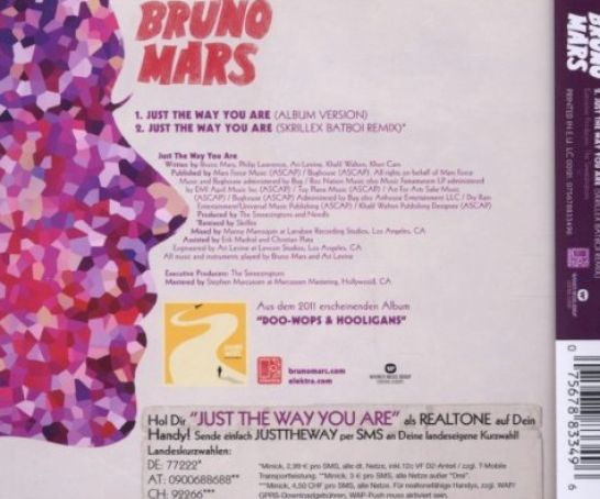 Single album art bruno mars just the way you pictures 2