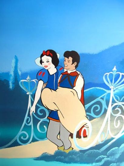 snow white and prince charming coloring 1