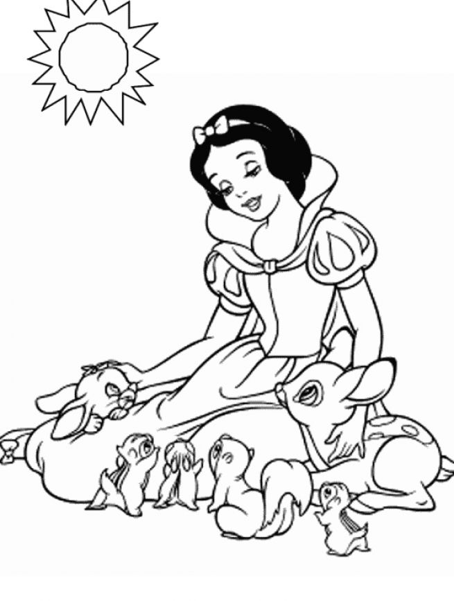 Coloring dopey page free coloring pages for Free snow white coloring pages
