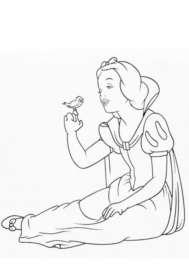 white baby of snow Colouring Pages