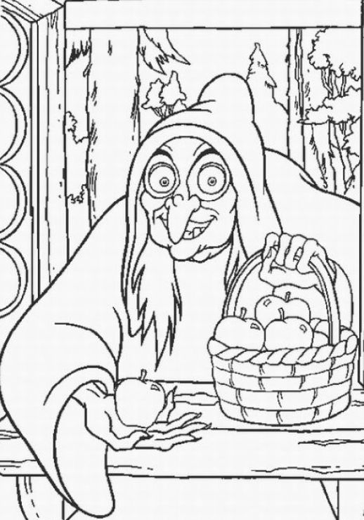 snow white witch coloring pages - photo#6