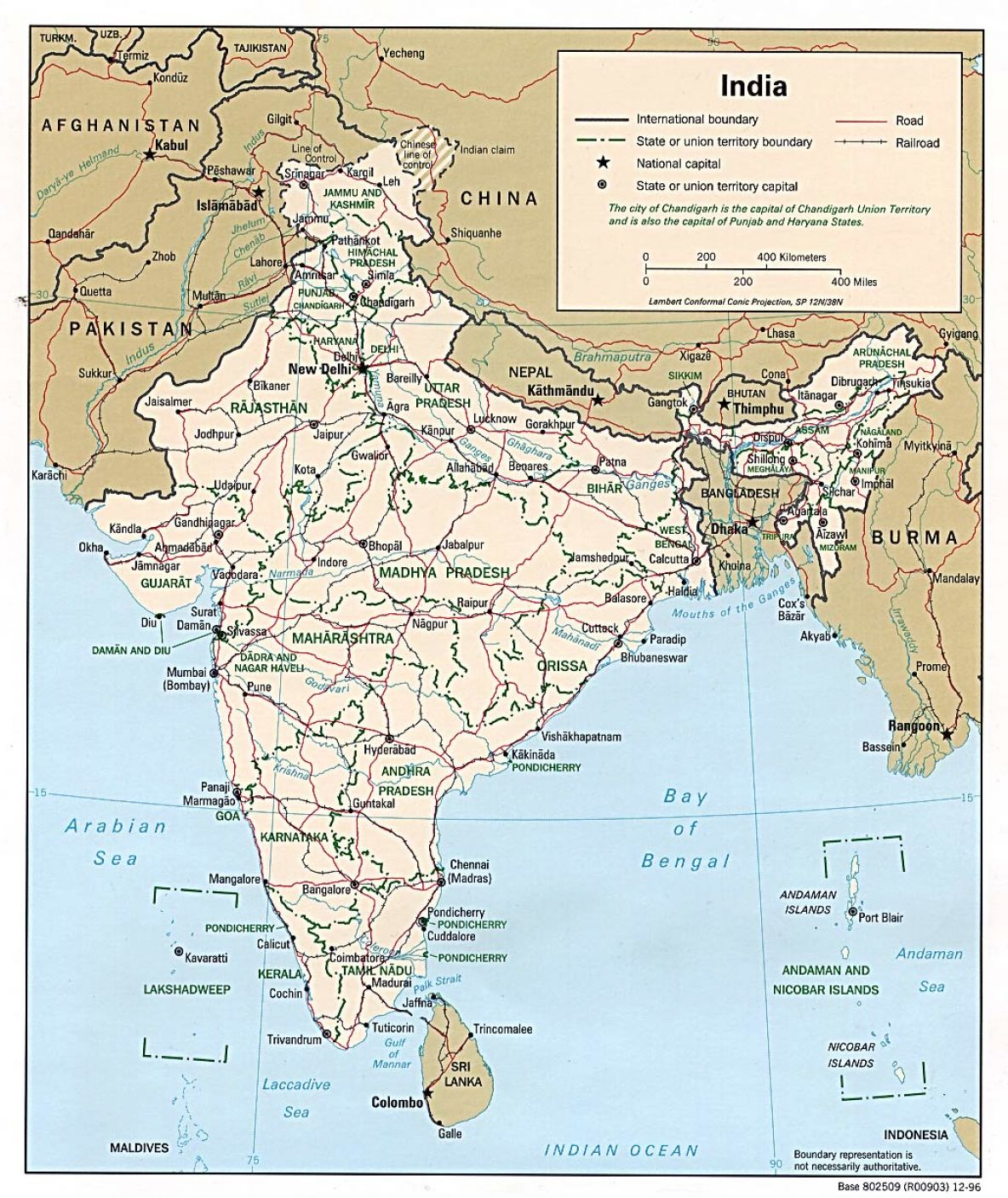 South Asia Map Physical