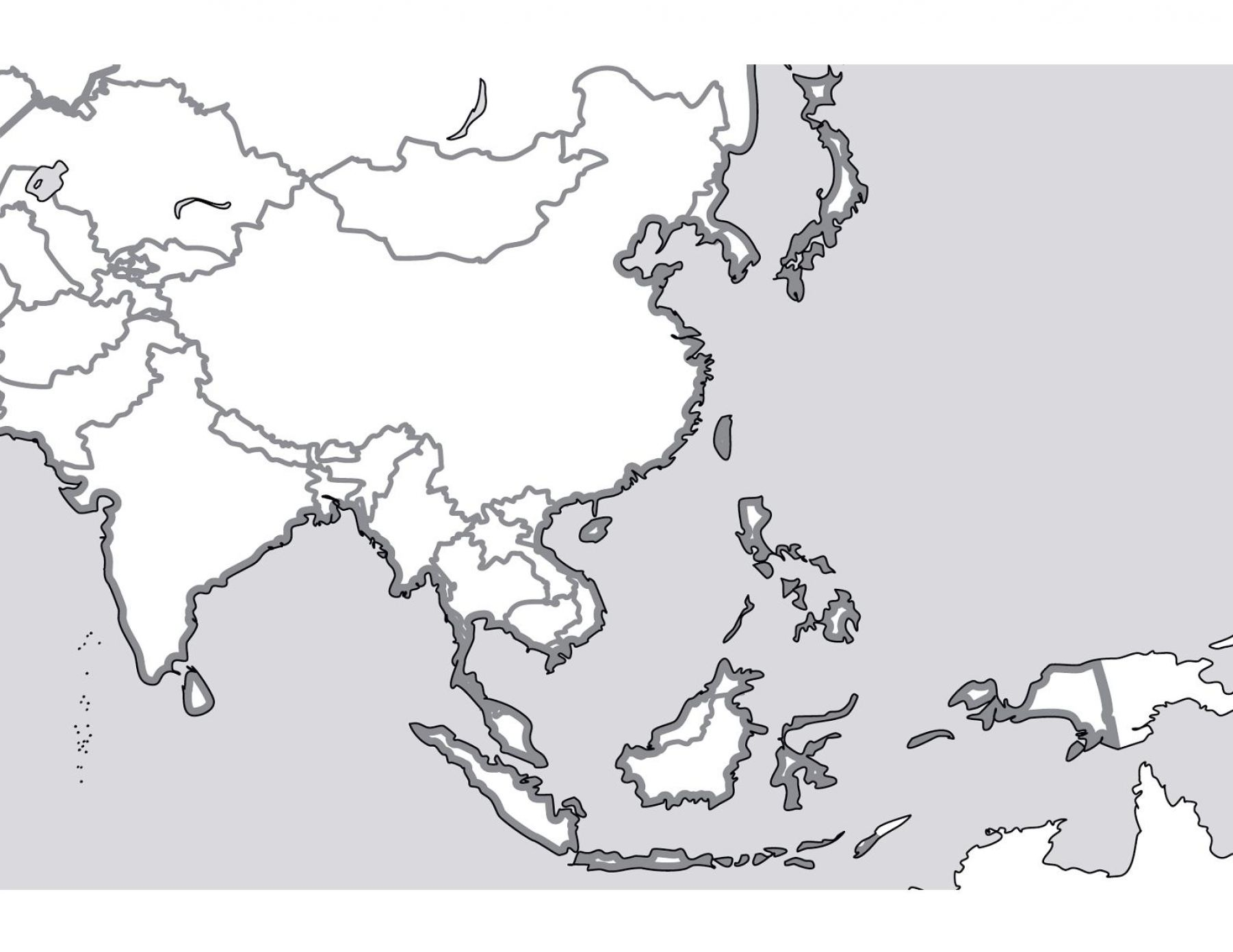 Blank Map Of Southeast Asia Quiz