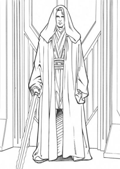 Free coloring pages of star wars luke skywalker