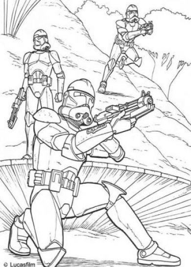 Star wars colouring in pics