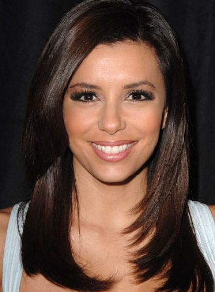 Straight layered hairstyles for medium length hair pictures 4