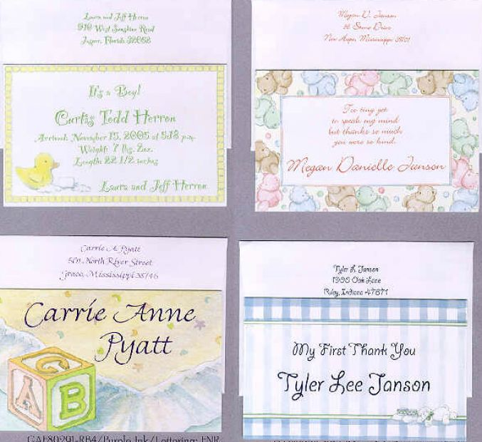 sample baby gift thank you notes wording for baby gift party