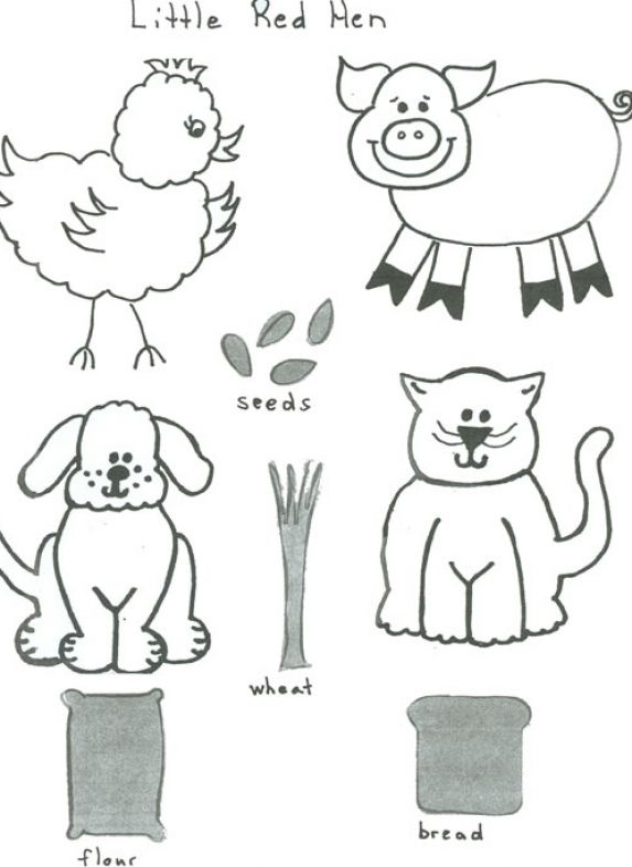 The little red hen coloring pages pictures 1