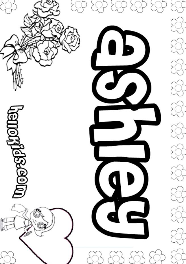 Graffiti girls names coloring pages Coloring book names