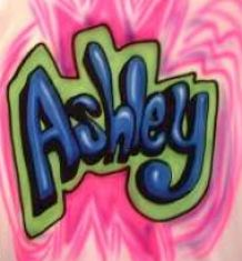 the name ashley in bubble letters 1