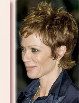 Raspy Short Hair for 40+ Women. Short haircuts for ladies aged over 40.