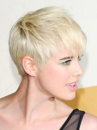 Very short hairstyles for round faces pictures 3