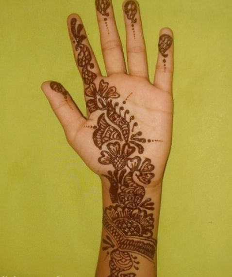 Very Simple Mehndi Designs For Beginners For Hand Sl