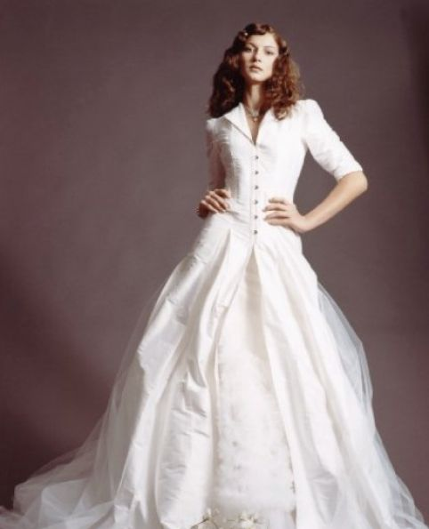 vintage wedding dress with sleeves. Vintage wedding dresses long