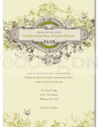 Vintage wedding invitations templates pictures 1