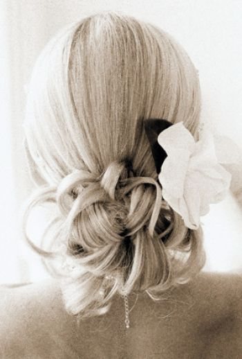 Wedding Hairstyles For Thin Long Hair Pictures 2