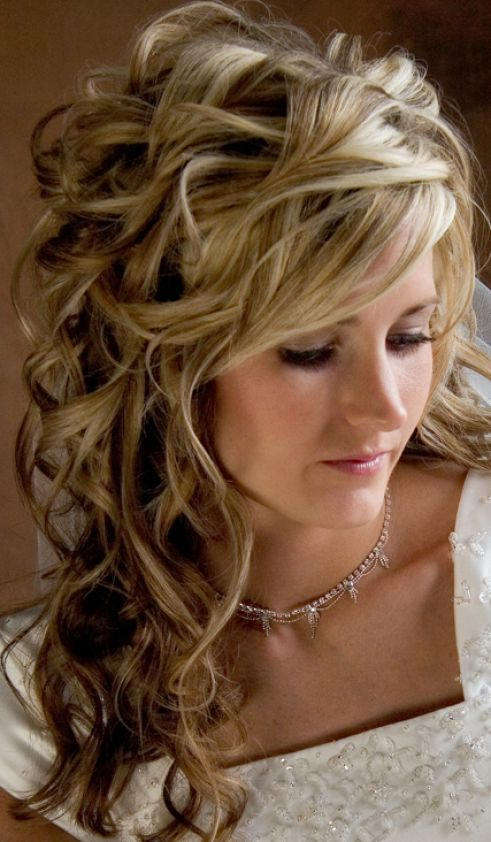 Wedding hairstyles half up half down curls pictures 1