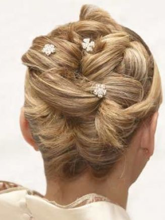 Wedding updo hairstyles for medium length hair pictures 2